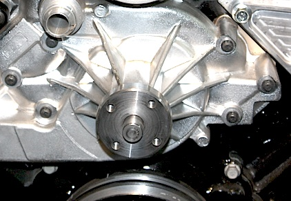 Large Water Pump Front on Ford Power Steering Pump