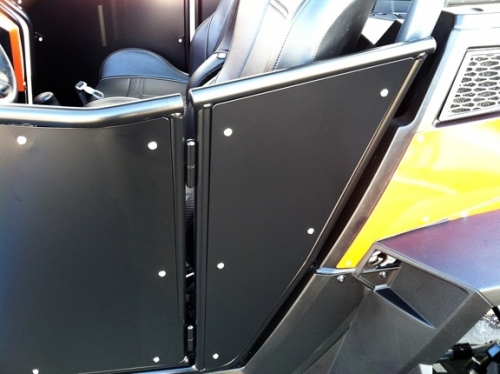 Twisted Stitch has engineered these steel opening doors for the Polaris RZRs to match the body lines perfectly. From Alper Motorsports & Twisted Stitch has engineered these steel opening doors for the ...